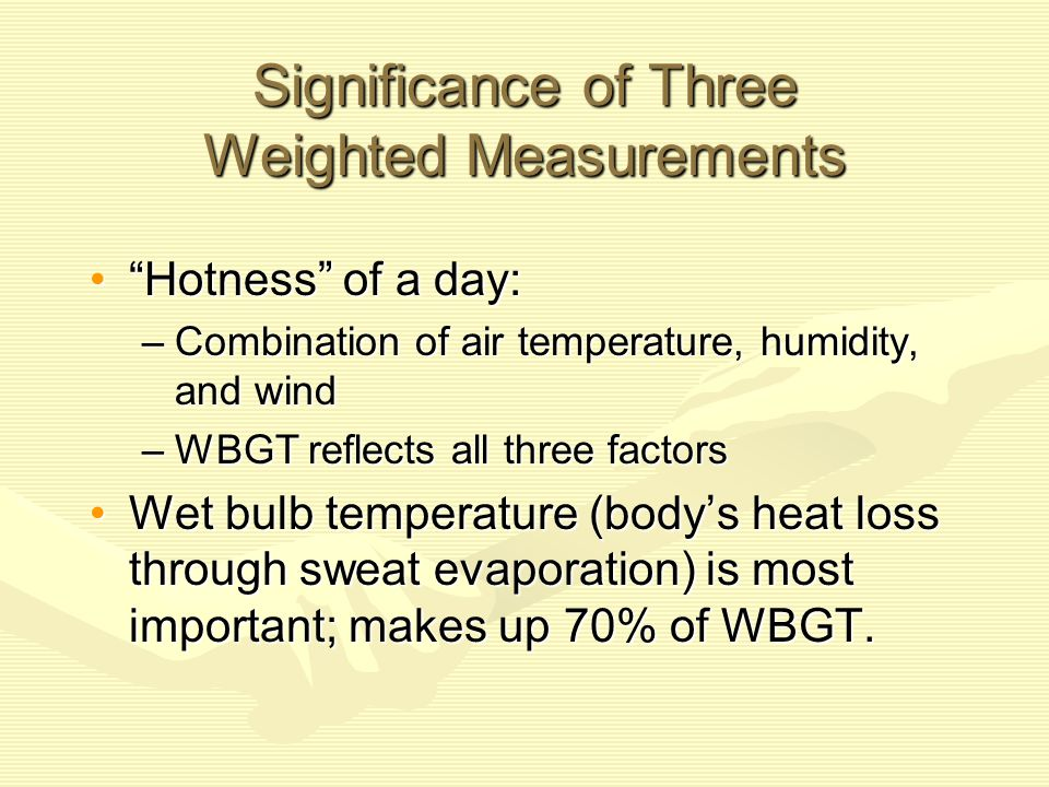 Significance of Three Weighted Measurements