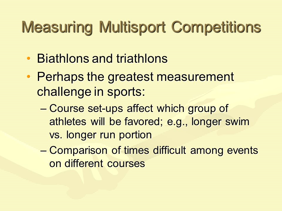 Measuring Multisport Competitions