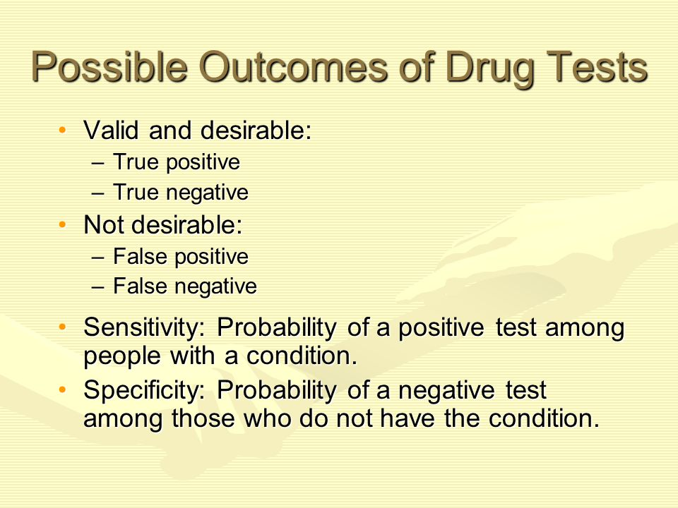 Possible Outcomes of Drug Tests