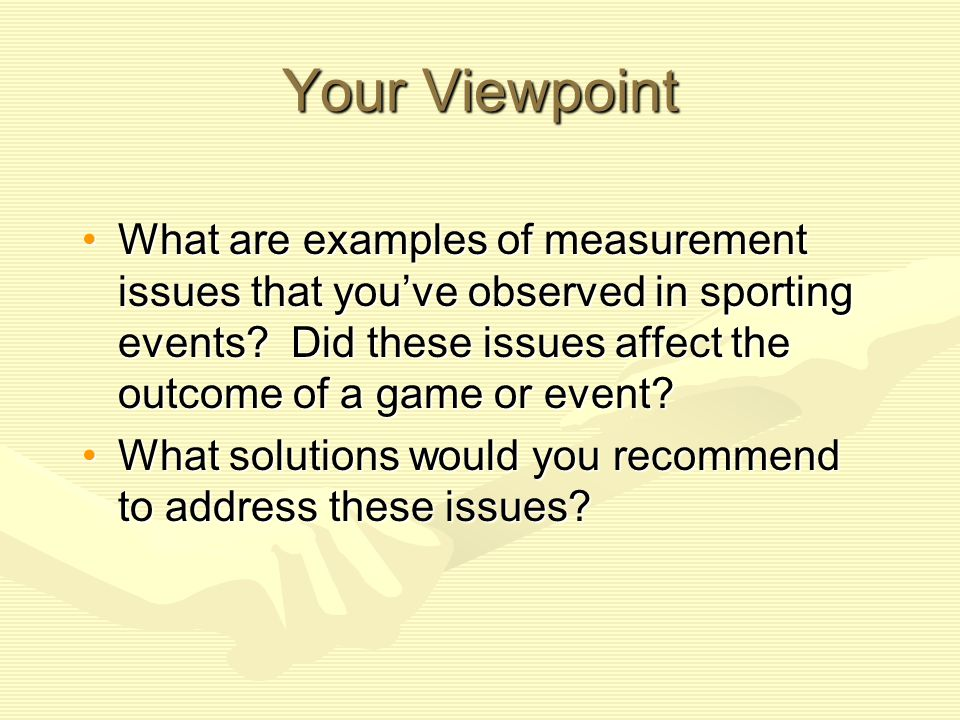Your Viewpoint