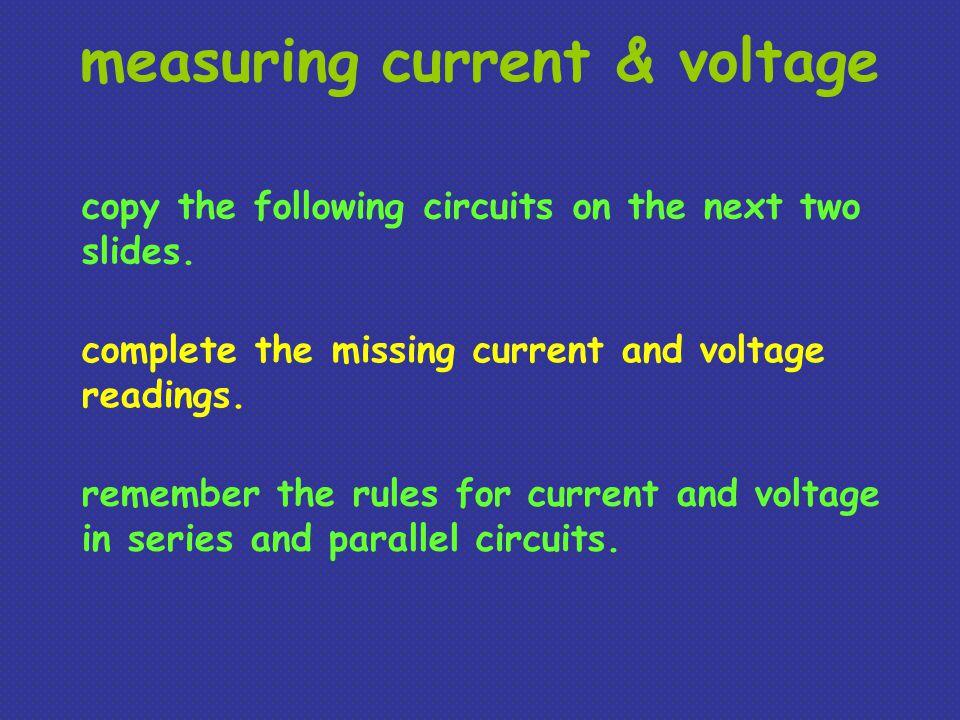 measuring current & voltage