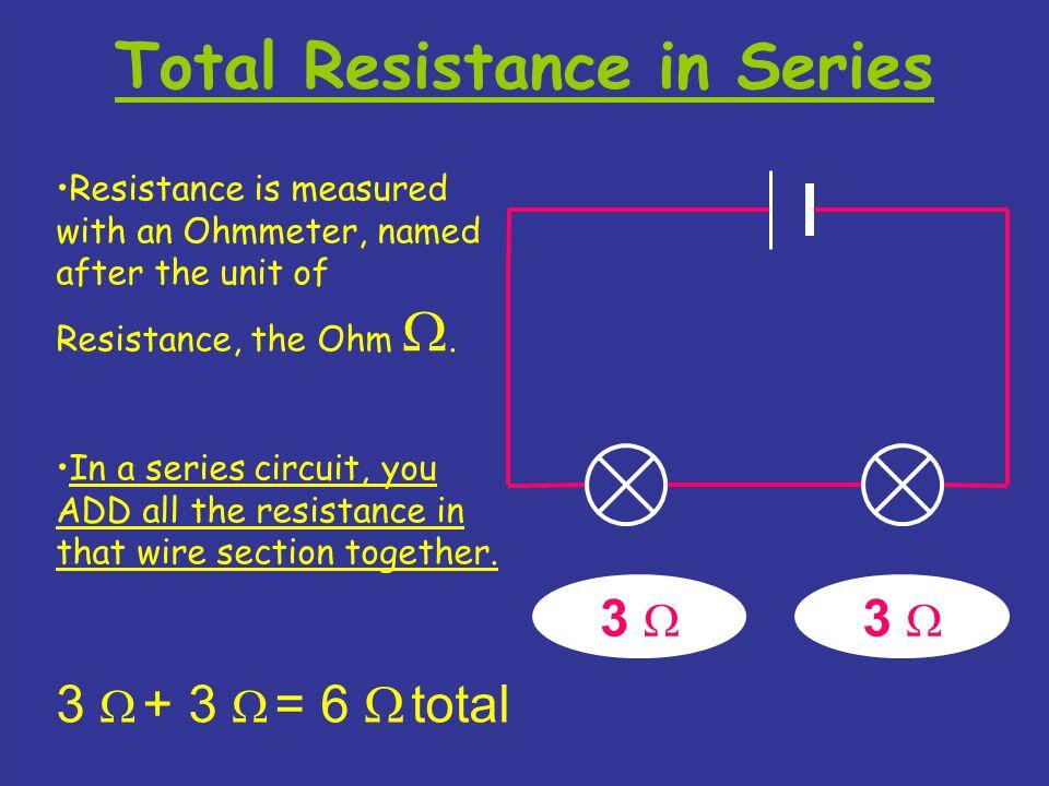 Total Resistance in Series