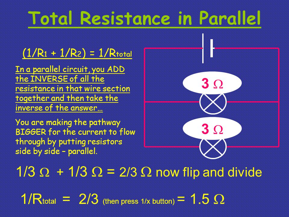 Total Resistance in Parallel