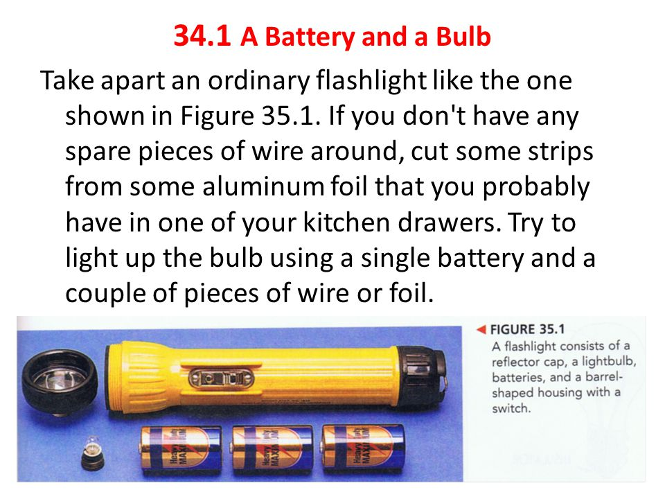 34.1 A Battery and a Bulb