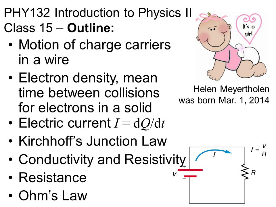 PHY132 Introduction to Physics II Class 15 – Outline: