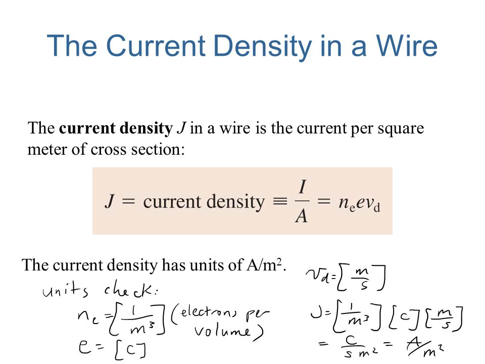 The Current Density in a Wire