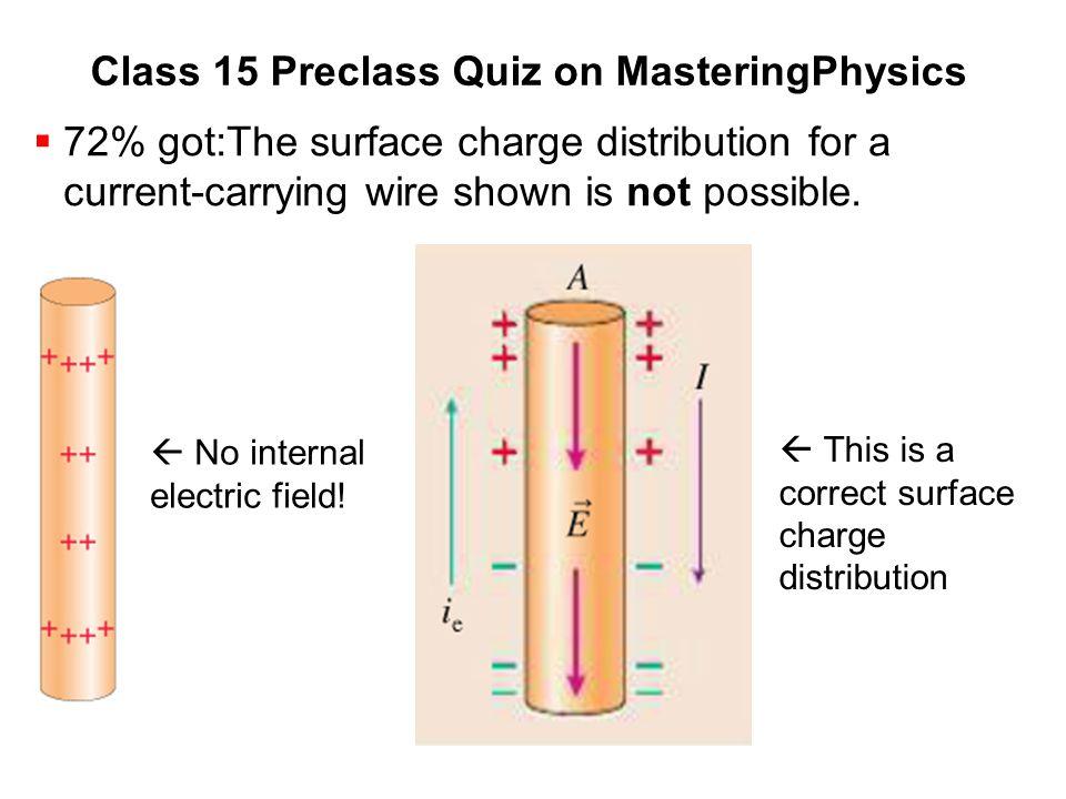 Class 15 Preclass Quiz on MasteringPhysics