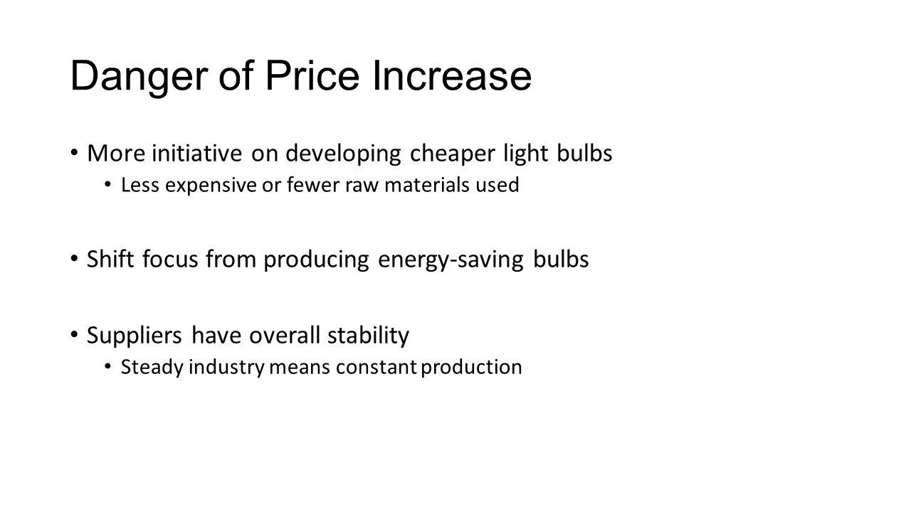 Danger of Price Increase