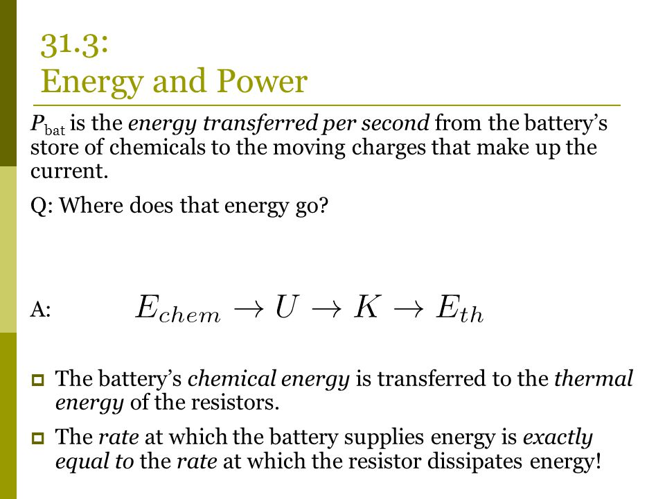 31.3: Energy and Power