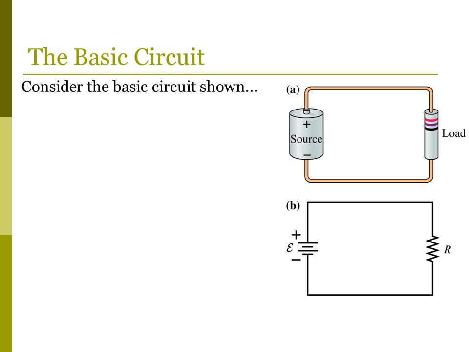 The Basic Circuit Consider the basic circuit shown...