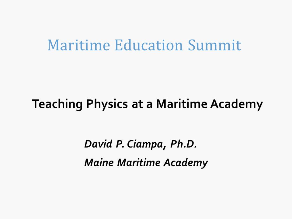 Maritime Education Summit