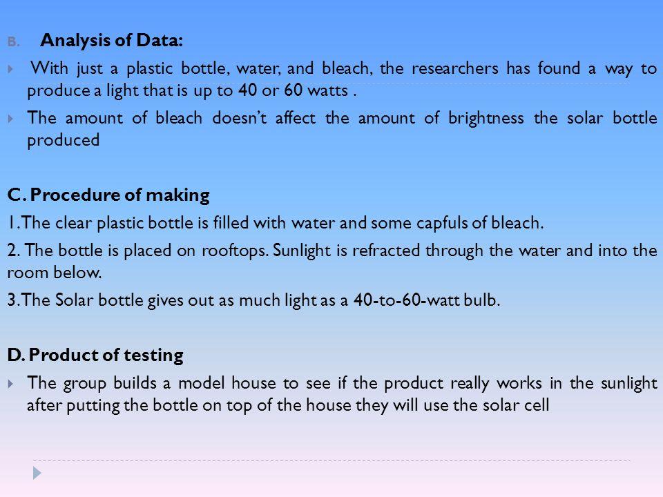 investigatory project solar bottle light bulb chapter 1 conceptual framework