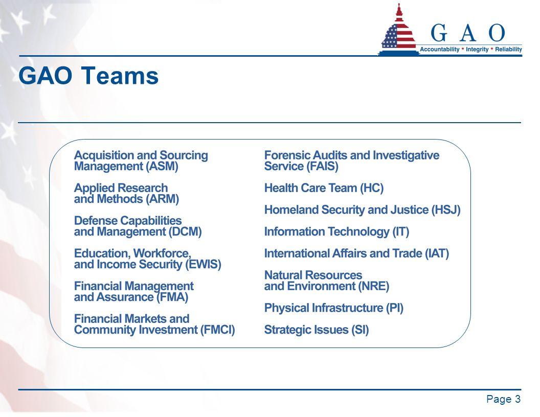 GAO Teams