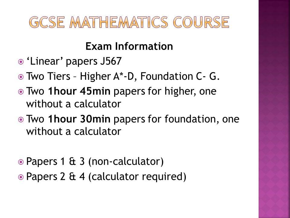GCSE Mathematics COURSE