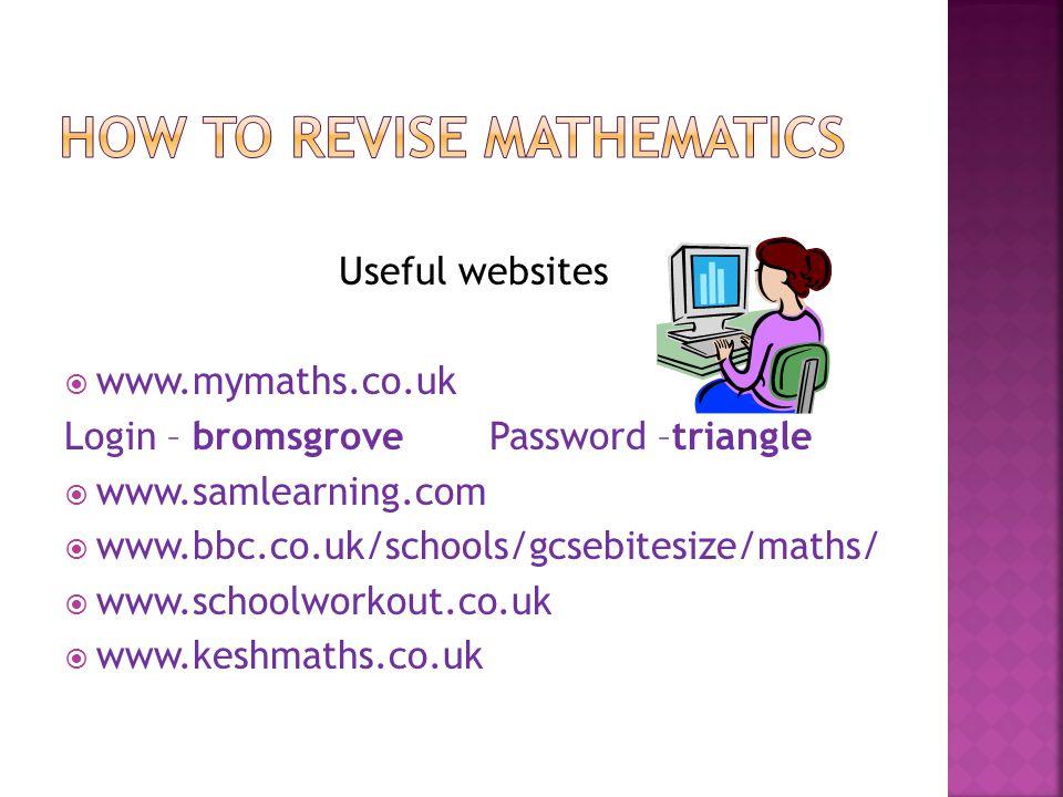How to revise mathematics