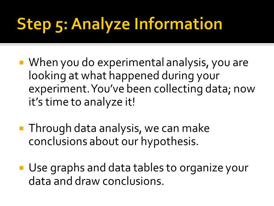 Step 5: Analyze Information