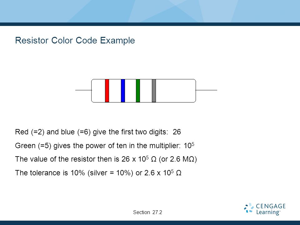 Resistor Color Code Example