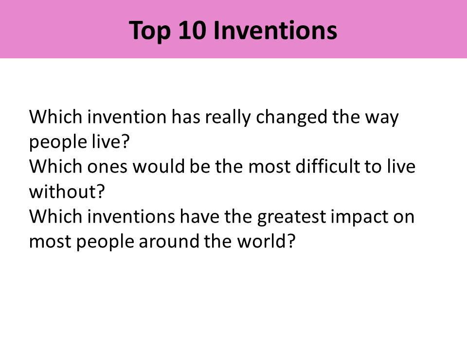 The impact of the invention of
