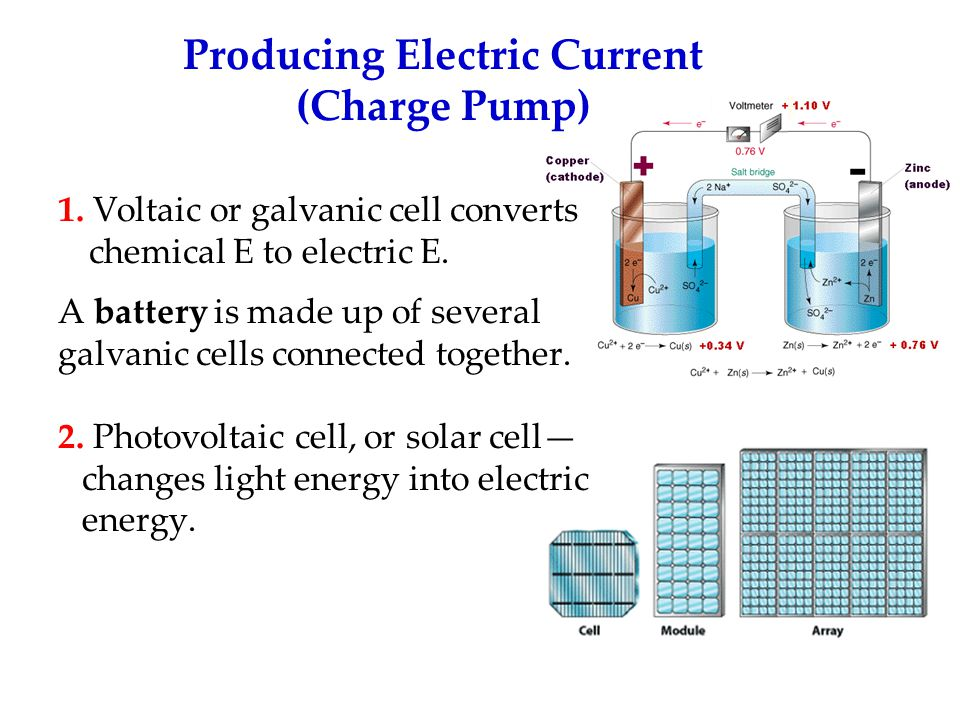 Producing Electric Current (Charge Pump)