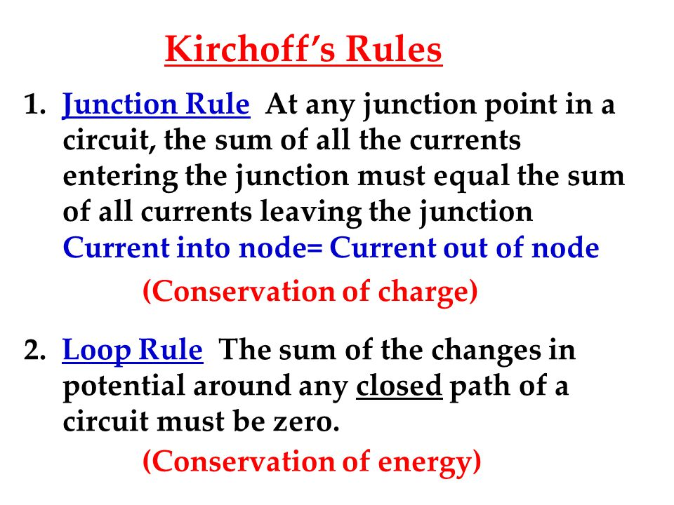 Kirchoff's Rules