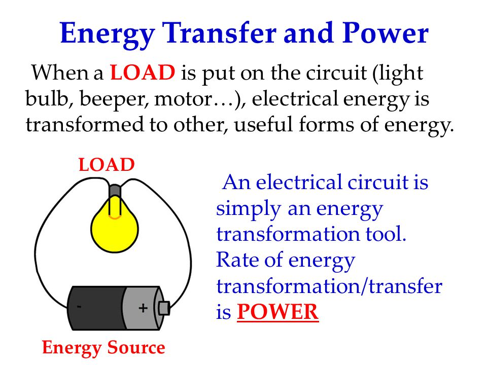 Energy Transfer and Power