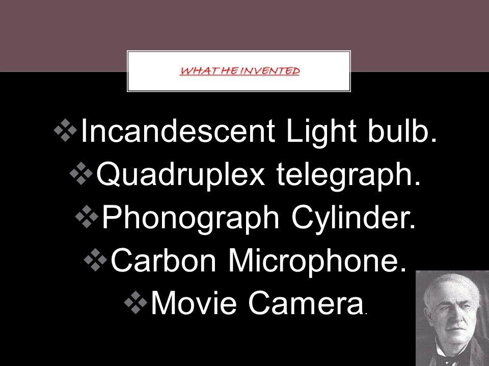 Incandescent Light bulb.