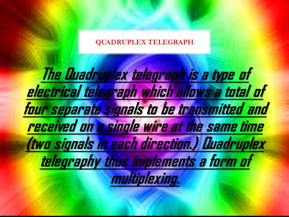 Quadruplex Telegraph