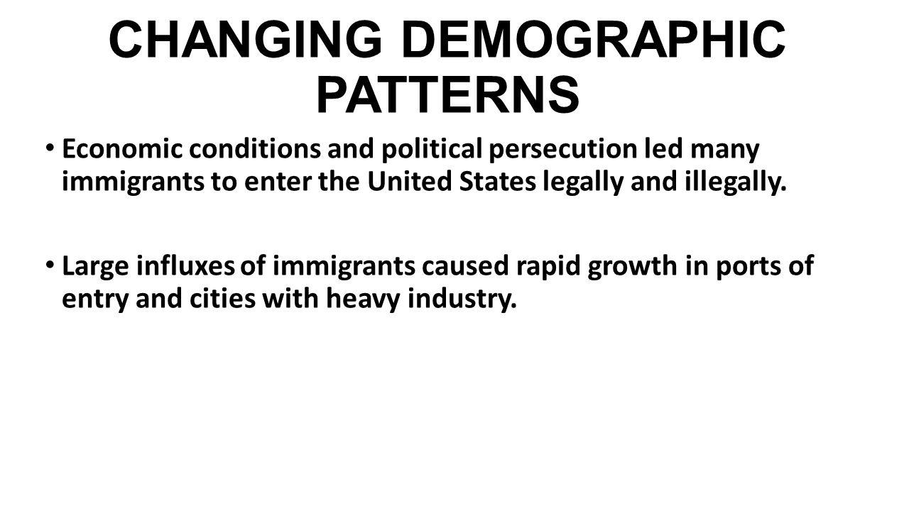 CHANGING DEMOGRAPHIC PATTERNS