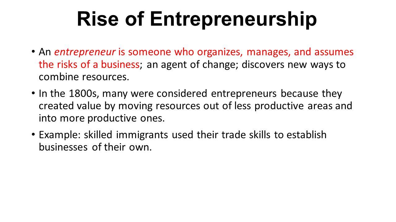Rise of Entrepreneurship