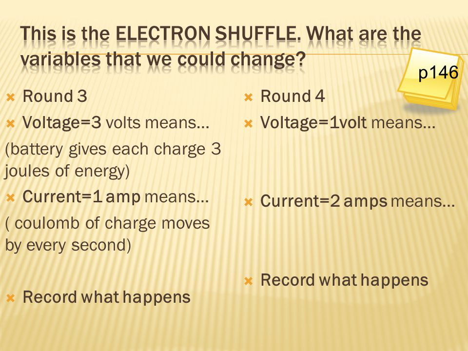 This is the ELECTRON SHUFFLE