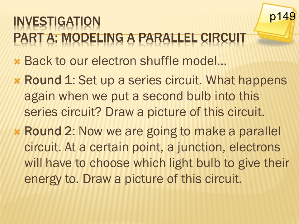 Investigation Part A; Modeling a parallel circuit