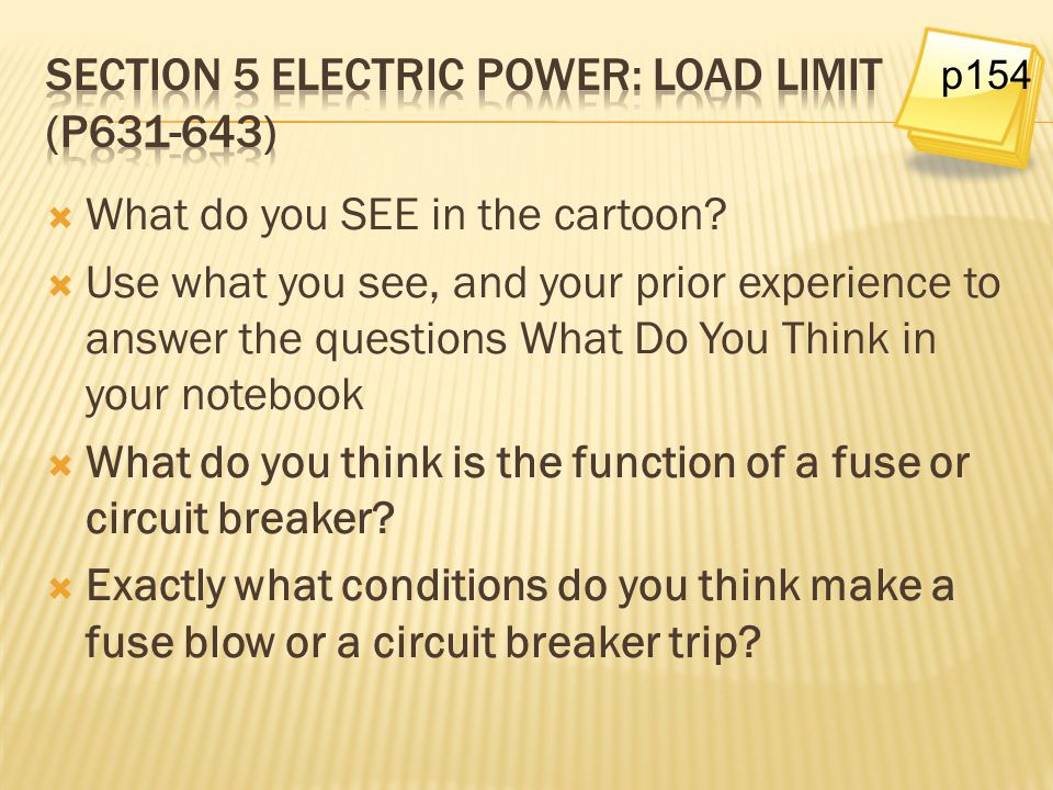 Section 5 electric power: load limit (p631-643)