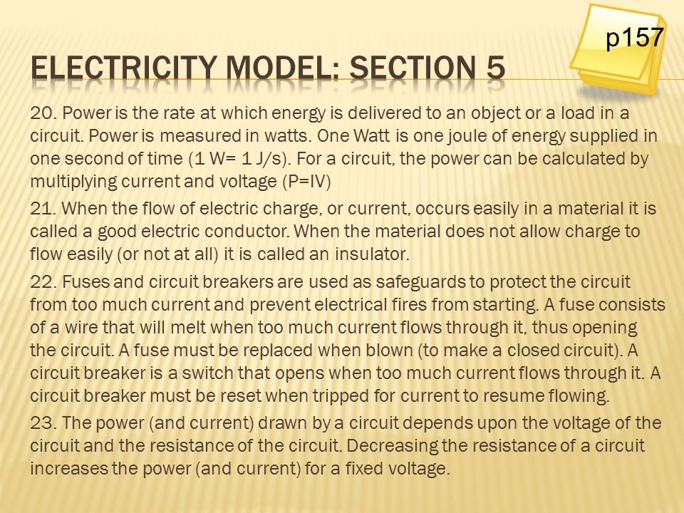 Electricity model: Section 5
