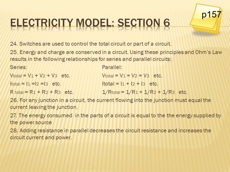 Electricity model: Section 6