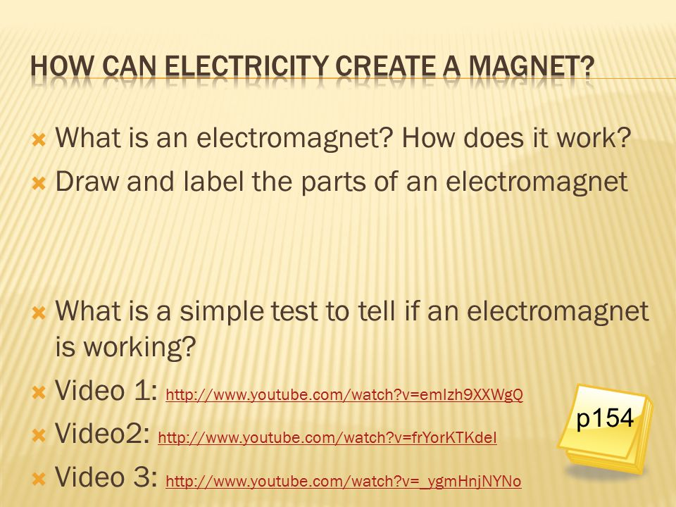 How can electricity create a magnet