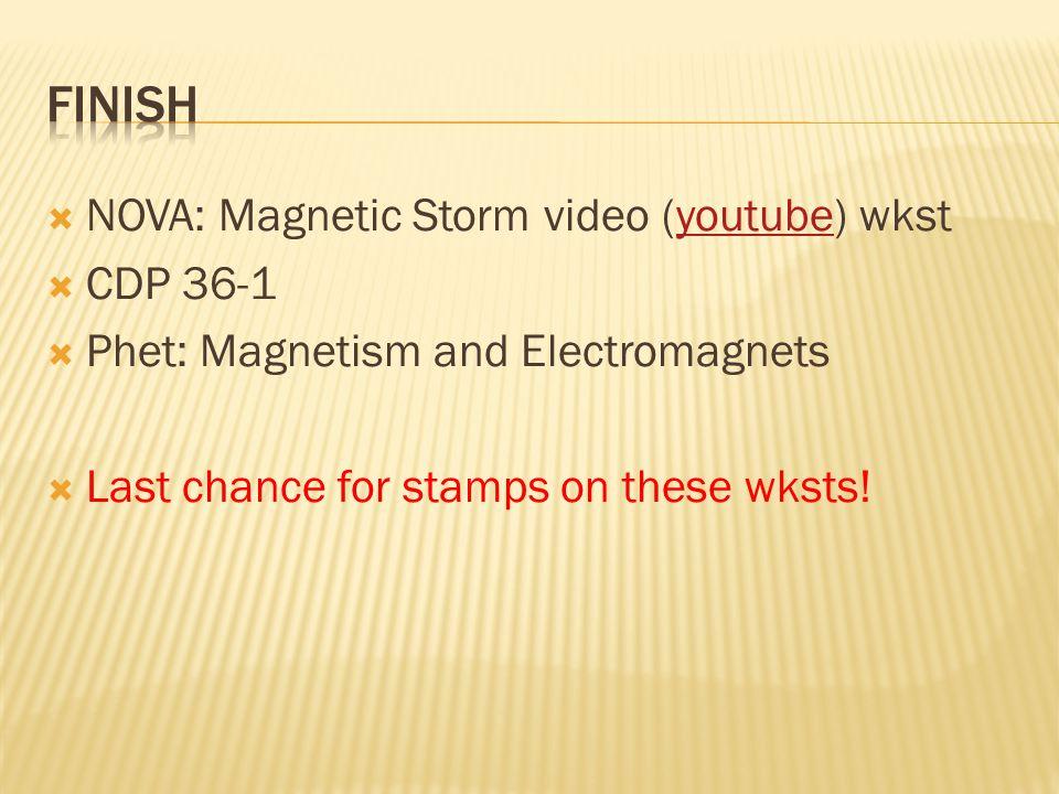 Finish NOVA: Magnetic Storm video (youtube) wkst CDP 36-1