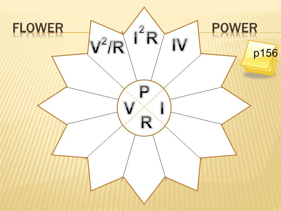 Flower power 2 I R 2 IV V /R p156 P V I R