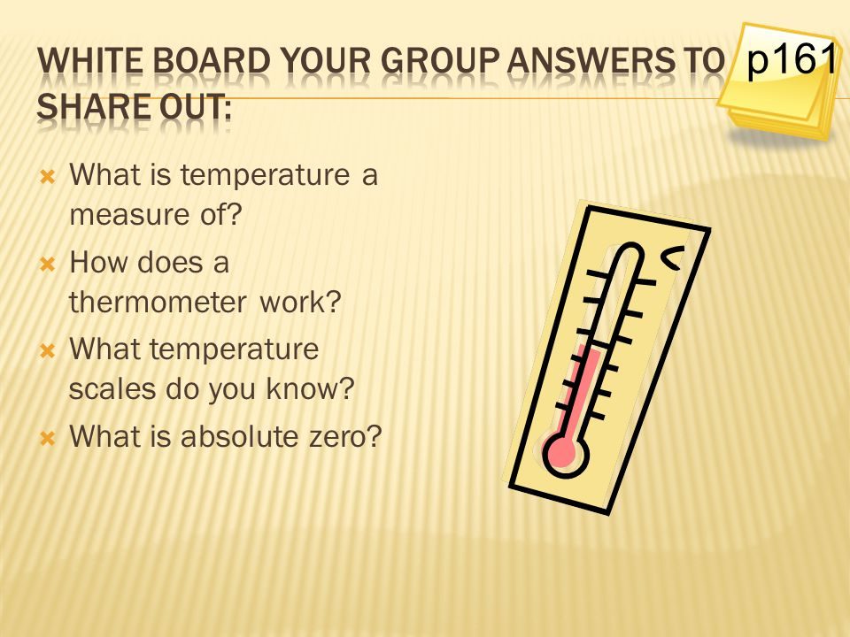 White board your group answers to share out:
