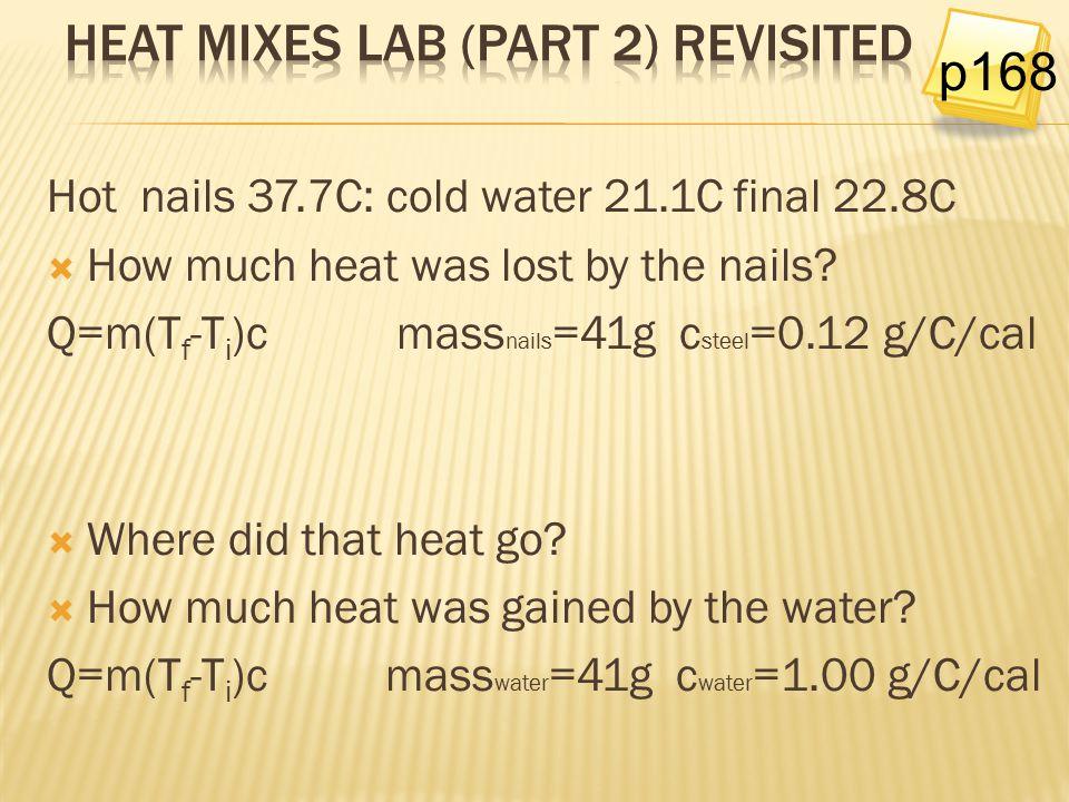 Heat Mixes Lab (part 2) revisited