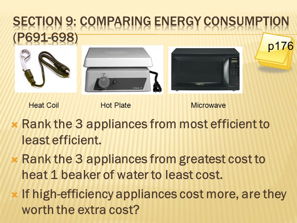 Section 9: Comparing Energy Consumption (p691-698)