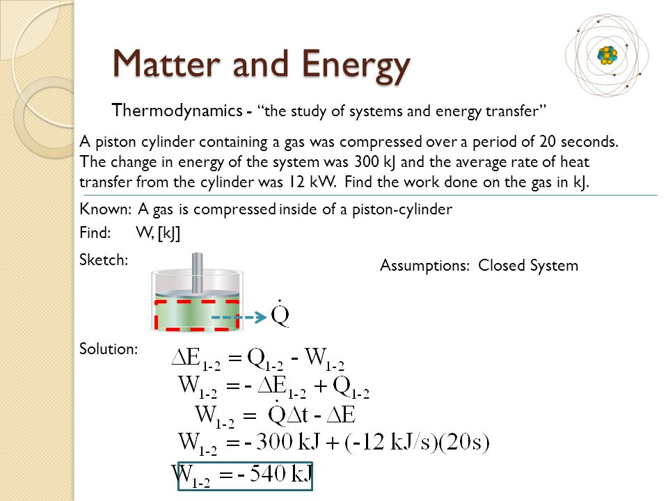 Thermodynamics - the study of systems and energy transfer