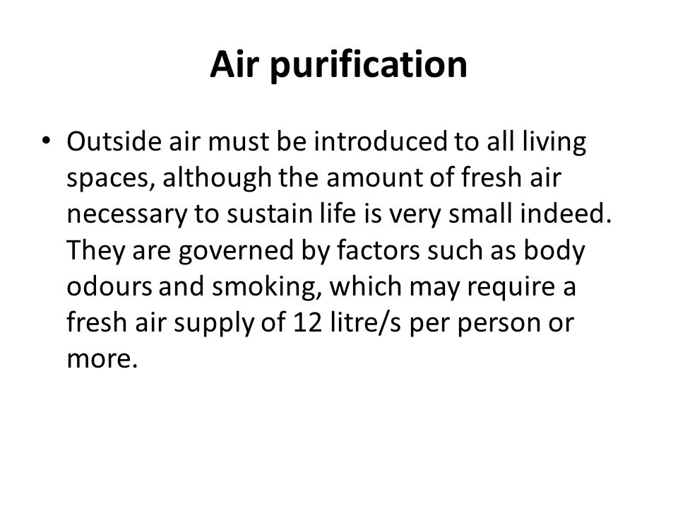 Air purification