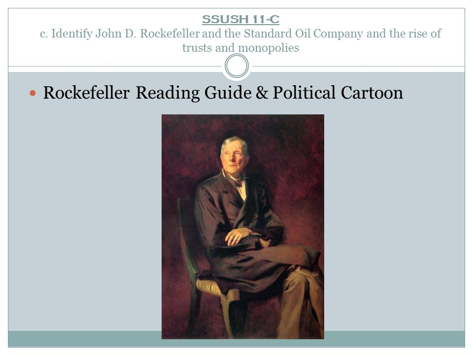 Rockefeller Reading Guide & Political Cartoon