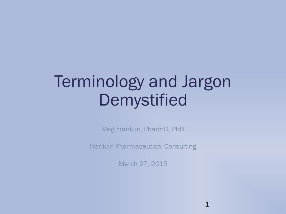 Terminology and Jargon Demystified