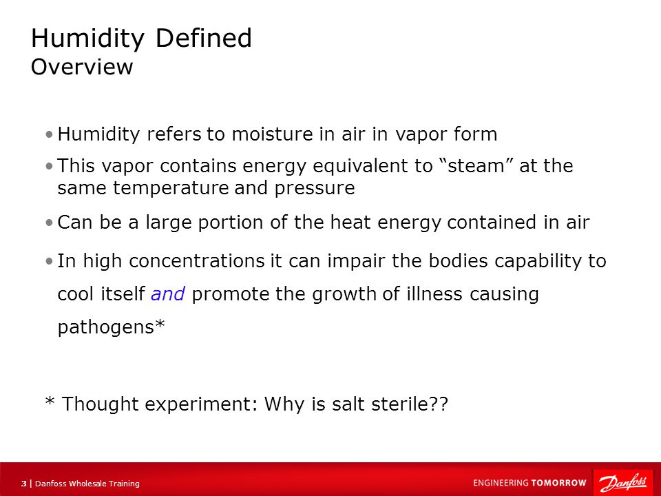 Humidity Defined Overview