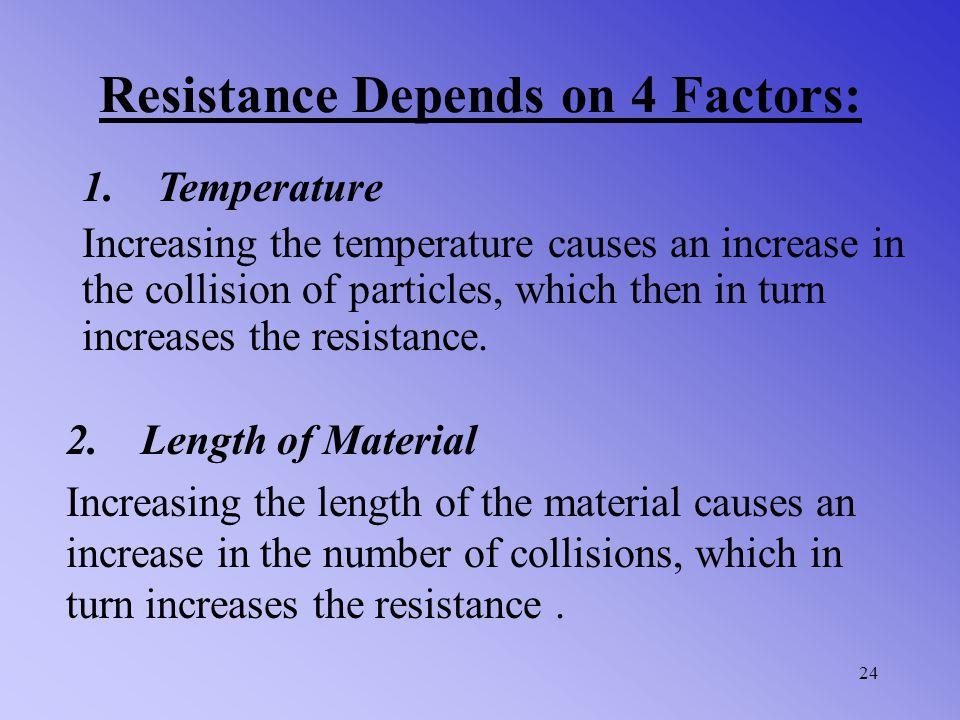 Resistance Depends on 4 Factors: