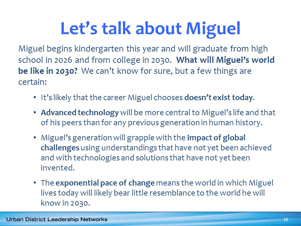 Let's talk about Miguel