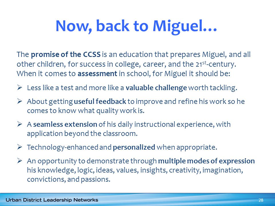 Now, back to Miguel…