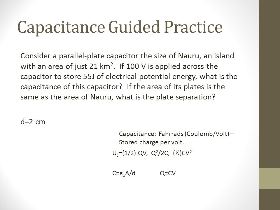 Capacitance Guided Practice