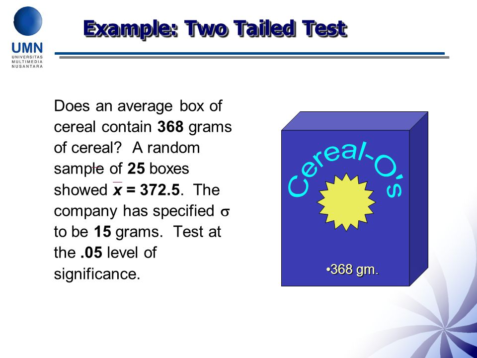 Example: Two Tailed Test